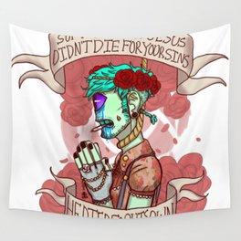 soft grunge jesus Wall Tapestry