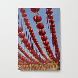 Red Chinese Lanterns at Thean Hou Temple, KL Metal Print