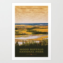 Wood Buffalo National Park Art Print