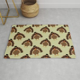 Cool Turkey with sunglasses Happy Thanksgiving Rug