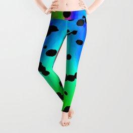 oilslick dalmatian Leggings