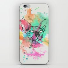 Watercolor Sphynx iPhone & iPod Skin