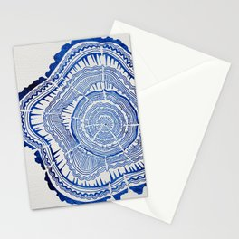 Growth Rings – 65 Years – Navy Stationery Cards