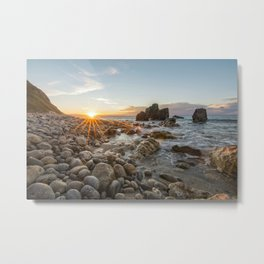 Last rays of light at sunset Metal Print