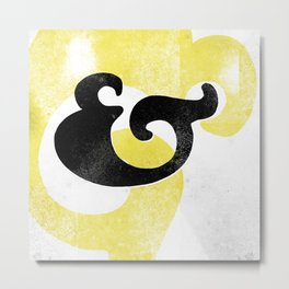 Goudy Stout Ampersand Metal Print