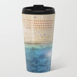 AERIAL. Summer beach Metal Travel Mug