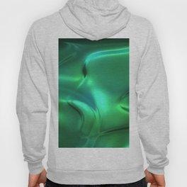 Green silk waves Hoody