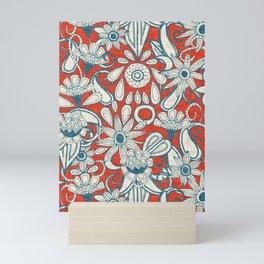 sarilmak fire orange blue Mini Art Print