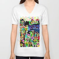 tokyo V-neck T-shirts featuring tokyo by sladja