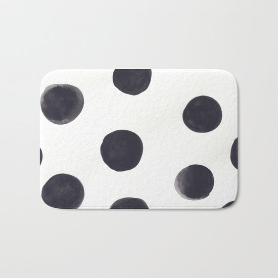 Watercolour Dots Bath Mat