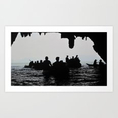 In the deep dark caves Art Print