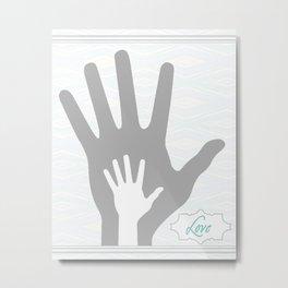 Baby Love Hands Metal Print