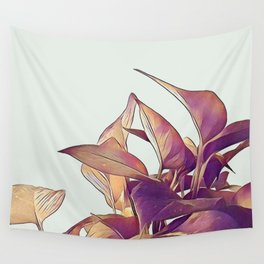 Pothos in pink Wall Tapestry
