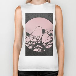 Chinese sparrow with marble Biker Tank