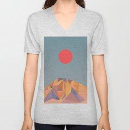 Sun on Mountain Unisex V-Neck