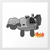 1.21 Giga Sheep Art Print
