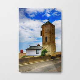 South Lookout Tower Aldeburgh Beach Metal Print