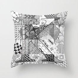 Small K Throw Pillow
