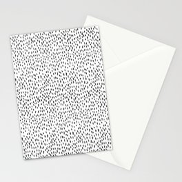 Black and White Spots Stationery Cards