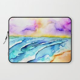 violet clouds - beach at sunset Laptop Sleeve