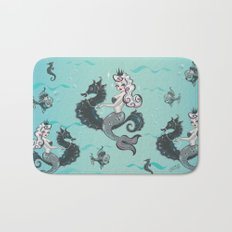 Pearla on Seahorse Bath Mat