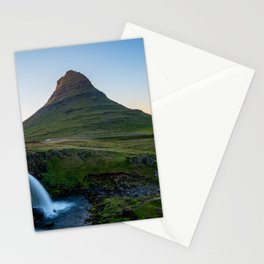 Kirkjufell mountain and waterfall in Iceland Stationery Cards
