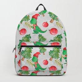 Christmas Dinosaur Backpack