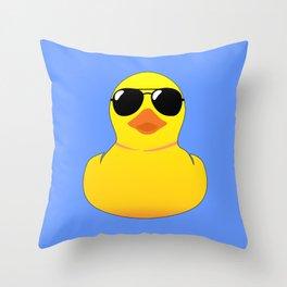 Cool Rubber Duck Throw Pillow