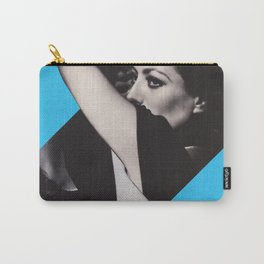 Joan Crawford - Double personality Diva - Collage Artwork Woman Carry-All Pouch