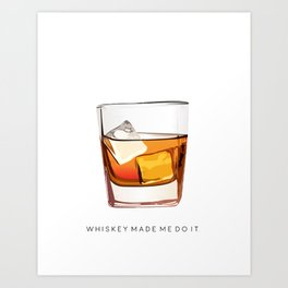 Alcohol Poster,Funny Poster Whiskey Art,Make Mine a Double,Alcohol Gift,Whiskey Cocktail,Inspiring Art Print
