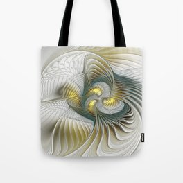 Noble And Golden, Abstract Modern Fractal Art Tote Bag