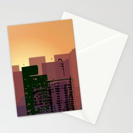 Sunset over San Francisco Stationery Cards