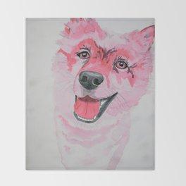 Fuchsia Fluffy Dog Throw Blanket