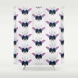 Beetle #3 Color Shower Curtain