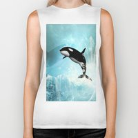 orca Biker Tanks featuring The orca by nicky2342