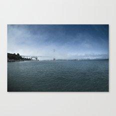 Golden Gate Bridge + Fog Canvas Print