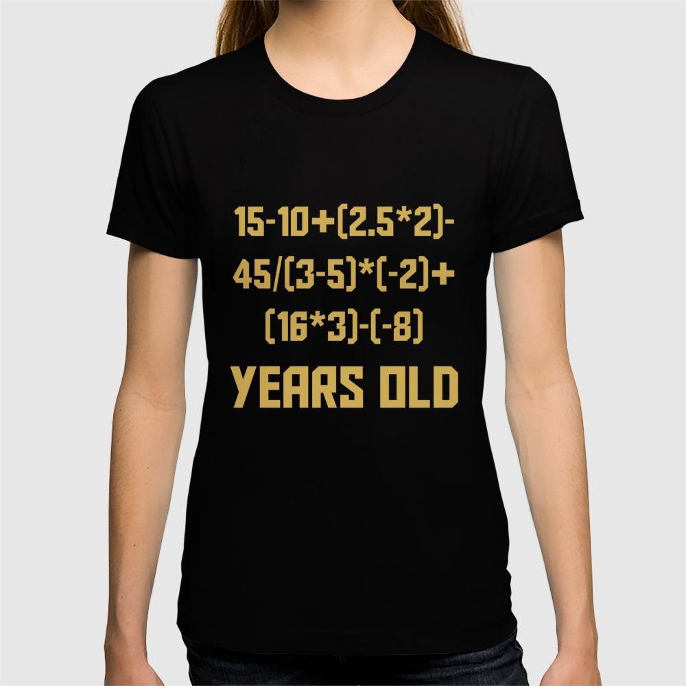 3f714b2d 21 Years Old Algebra Equation Funny 21st Birthday Math T-shirt by ...