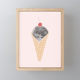 Disco Cone Framed Mini Art Print