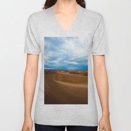 Blue Sky Landscape Unisex V-Neck