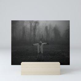 Scary Scarecrow In The Fog Mini Art Print