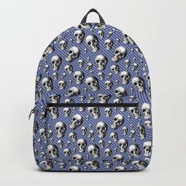 Skulls And Lavender Stripes Backpack