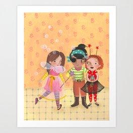 Friends in halloween Art Print