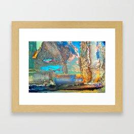 Aqua Play Framed Art Print