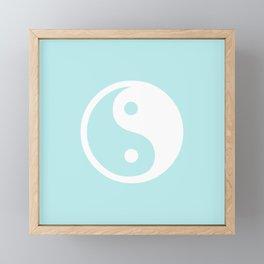 Turquoise Aqua Blue Harmony Yin Yang Framed Mini Art Print