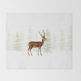 Wandering deer  Throw Blanket