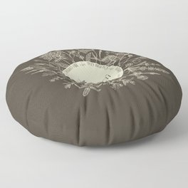 Dear Sassenach in Sepia Floor Pillow
