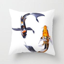 Butterfly Koi Throw Pillow