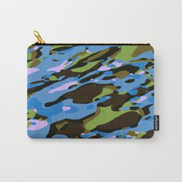 green blue and brown camouflage graffiti painting abstract background Carry-All Pouch