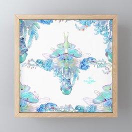 Aqua Chalcedony Framed Mini Art Print