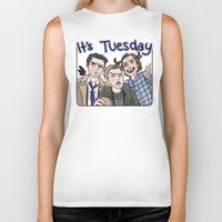 enerjax Biker Tanks featuring It's Tuesday by enerjax
